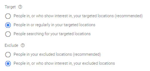 Location-Targeting-Setting